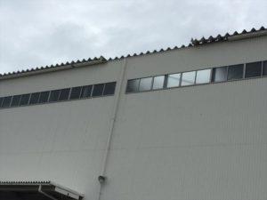 台風21号の暴風で屋根(折板屋根)が飛んでしまった建物